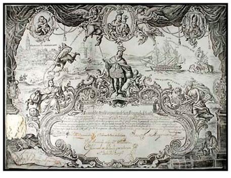 Acción de la Real Compañía de San Fernando de Sevilla. 1748