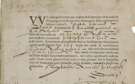 La acción más antigua de la historia 1606
