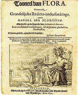 Panfleto de la Tulipomanía, 1637
