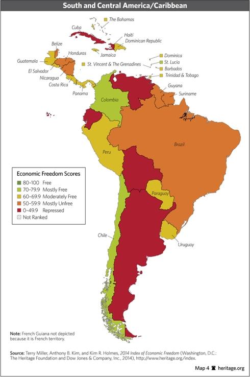 indice america central sudamerica region caribe libertad economica