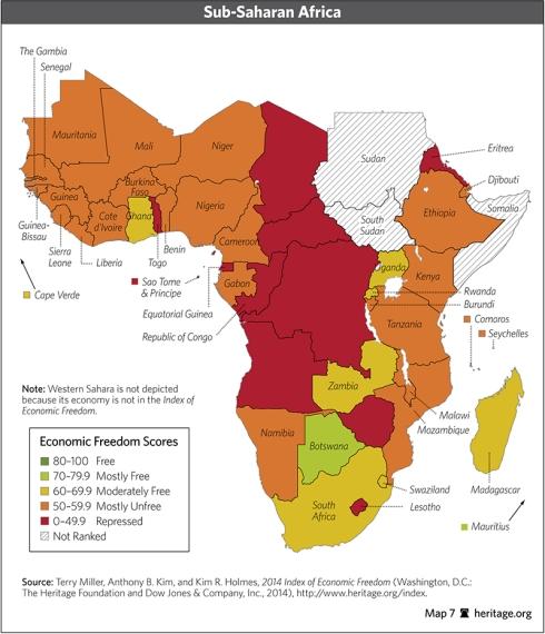 indice libertad economica africa subsahariana