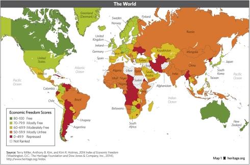 indice libertad economica mundo 2014