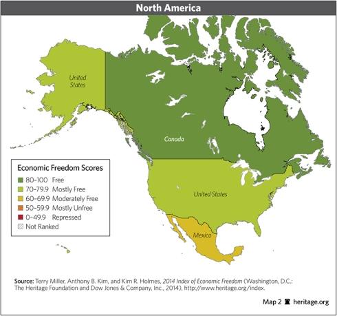 indice libertad economica norteamerica